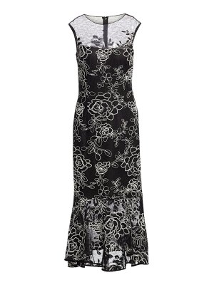 Teri Jon embellilshed lace illusion cocktail dress