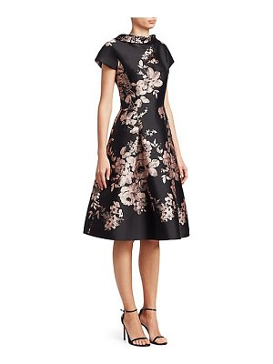 Teri Jon floral fit-and-flare dress