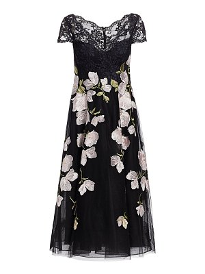 Teri Jon floral lace tulle dress