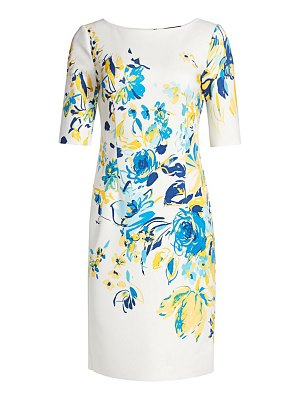 Teri Jon floral scuba dress