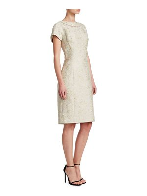 Teri Jon jacquard sheath dress