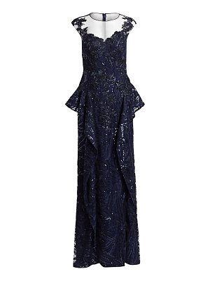Teri Jon lace & sequin gown