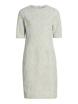 Teri Jon metallic jacquard dress