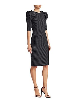 Teri Jon pinstripe sheath dress