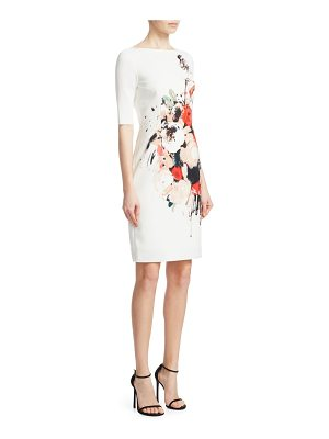 Teri Jon scuba print sheath dress