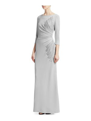 Teri Jon side ruched gown