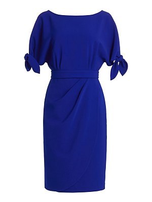Teri Jon tie-sleeve dress