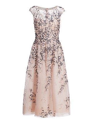 Teri Jon tulle floral lace dress
