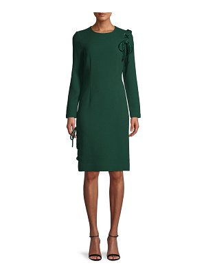 Teri Jon Velvet Lace-Up Sheath Dress