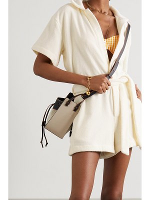 Terry belted cotton-terry playsuit