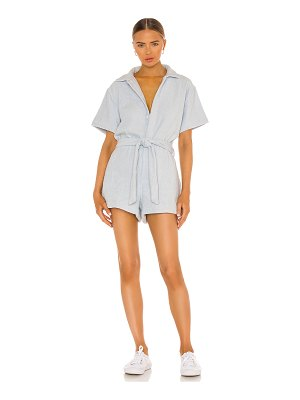Terry belted romper