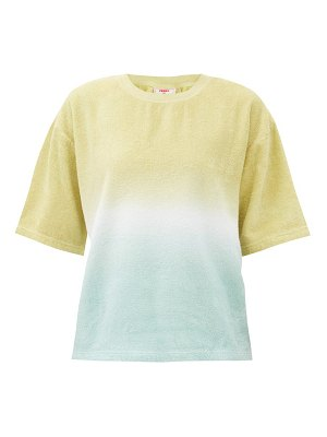 Terry oversized tie-dye cotton-terry t-shirt