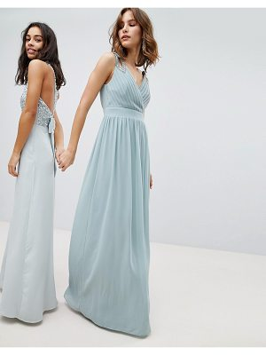 TFNC Wrap Front Maxi Bridesmaid Dress With Embellishment