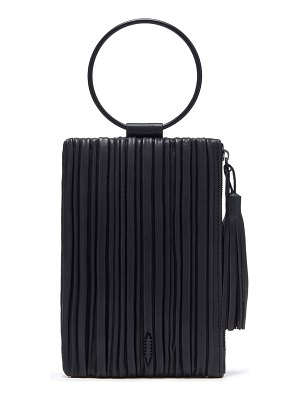 THACKER nolita pleated leather clutch