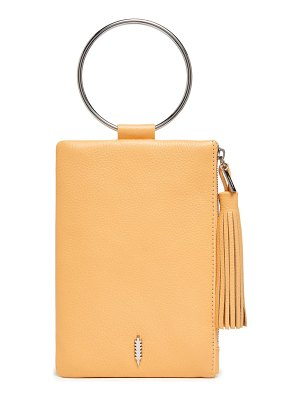 THACKER nolita ring handle leather clutch