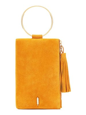 THACKER nolita suede ring handle clutch