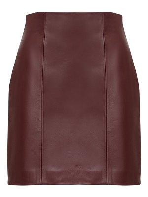 THE AL Faith leather mini skirt