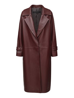THE AL Harpa leather trench coat
