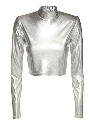The Andamane Estelle metallic jersey crop top