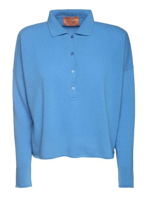 The Andamane Eva wool blend knit polo sweater