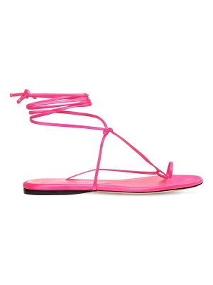 The Attico 10mm satin thong sandals