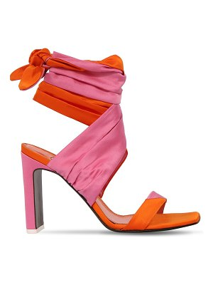 The Attico 95mm jersey stretch lace up sandals