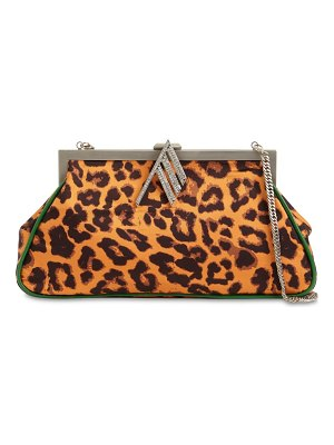 The Attico Alma leopard print shoulder  bag