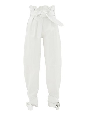 The Attico belted wide-leg leather trousers