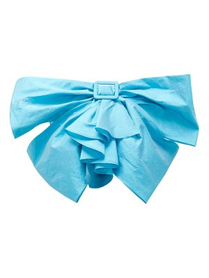The Attico buckled-bow taffeta cropped top
