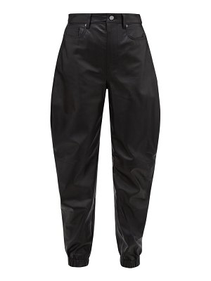 The Attico cavalier-cut leather trousers