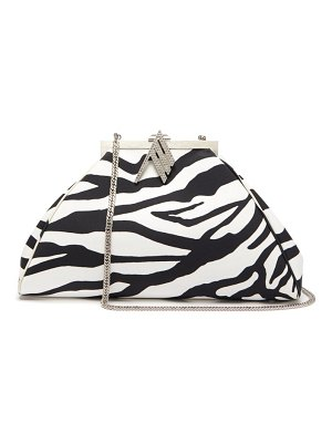 The Attico crystal-embellished zebra-print shoulder bag