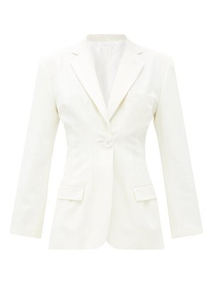 The Attico donna single-breasted wool-blend jacket