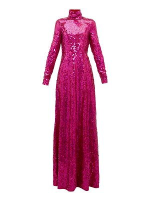 The Attico high neck sequinned gown