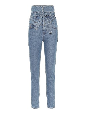 The Attico high-rise straight jeans