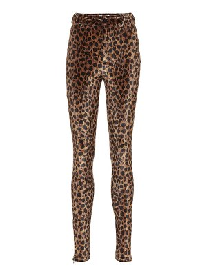 The Attico leopard-print stretch-velvet pants