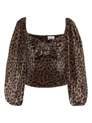 The Attico leopard-print stretch-velvet top