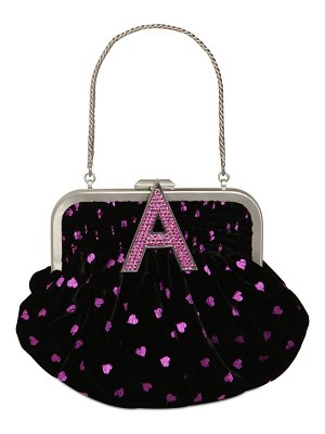 The Attico Mini velvet doctor bag w/hearts