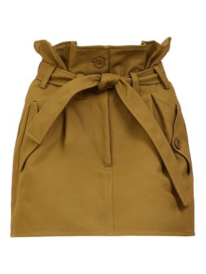 The Attico paperbag-waist mini skirt