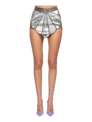 The Attico Sequined deco mini skirt