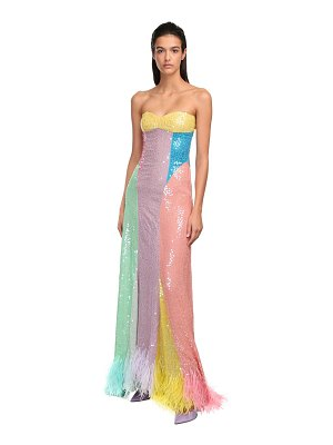 The Attico Sequined rainbow dress