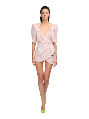 The Attico Sequined wrap dress
