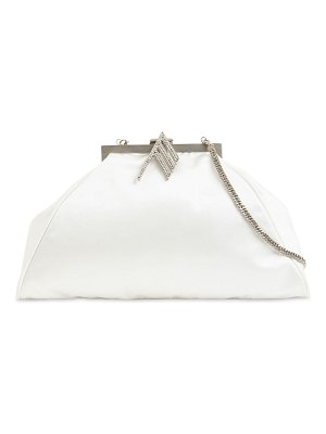 The Attico Silk satin doctor bag w/ crystal logo