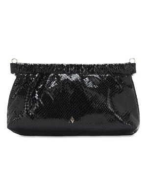 The Attico Snake print leather clutch