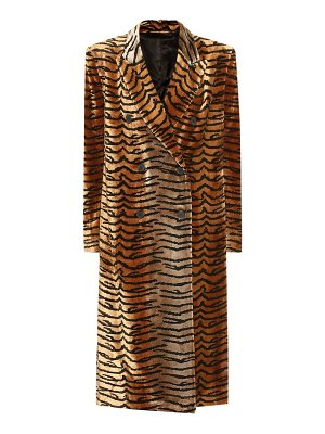 The Attico tiger-print velvet coat