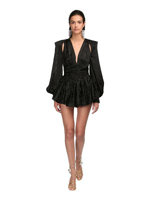 The Attico Viscose jacquard mini dress
