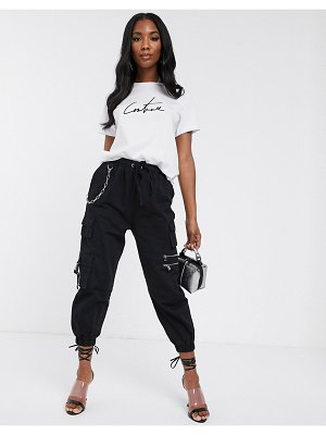 The Couture Club cargo pant in black