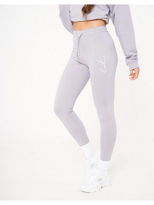 The Couture Club fitted leggings in gray-grey
