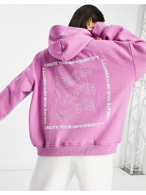 The Couture Club hoodie with logo print in pink