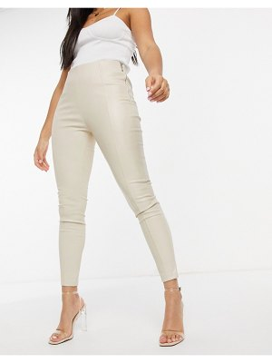 The Couture Club leather look leggings in cream