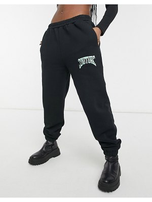 The Couture Club sweatpants with logo in black